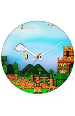 Relógio de Parede Fase Super Mario