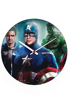 Relógio de Parede Capitão America, Hulk e Arqueiro