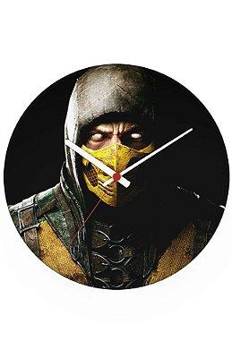 Relógio de Parede Mortal Kombat - Scorpion