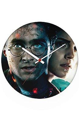 Relógio de Parede Harry Potter e Hermione