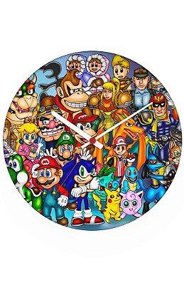 Relógio de Parede Sonic, Link, Mario - Diversos