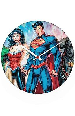 Relógio de Parede Superman e Mulher Maravilha