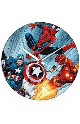 Relógio de Parede Capitão America e Homem Aranha