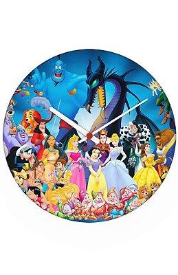 Relógio de Parede Mundo da Disney