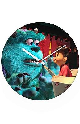 Relógio de Parede Monstros S.A - Sullivan e Boo