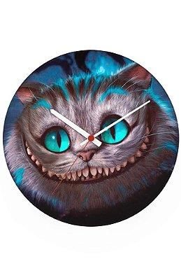 Relógio de Parede Cat - Alice no País das Maravilhas