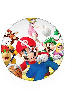 Relógio de Parede Super Mario e Luigi