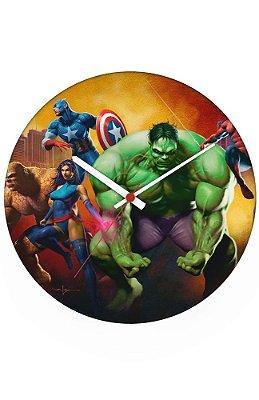 Relógio de Parede Hulk - Os Vingadores