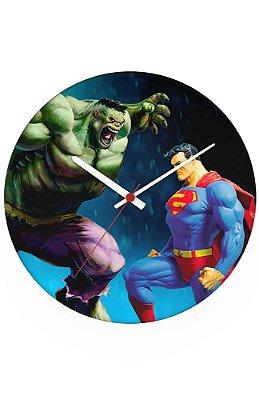 Relógio de Parede Hulk and Superman