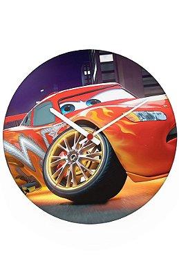 Relógio de Parede Carros - Relâmpago McQueen