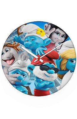 Relógio de Parede Os Smurfs