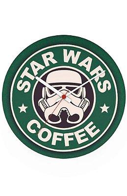 Relógio de Parede Star Wars - Coffe