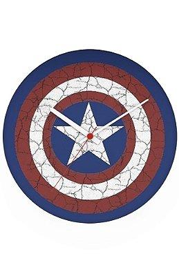 Relógio de Parede Escudo Capitão America