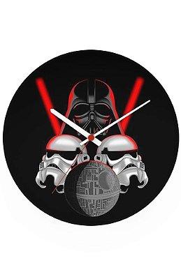 Relógio de Parede Stormtrooper e Darth Vader