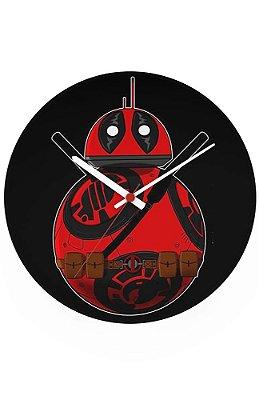 Relógio de Parede Deadpool BB-8