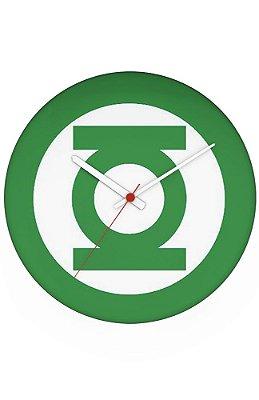 Relógio de Parede Lanterna Verde