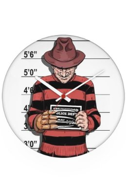Relógio de Parede Freddy Krueger