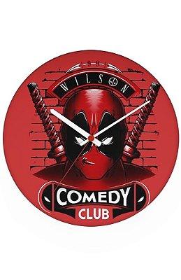 Relógio de Parede Deadpool Comedy Club
