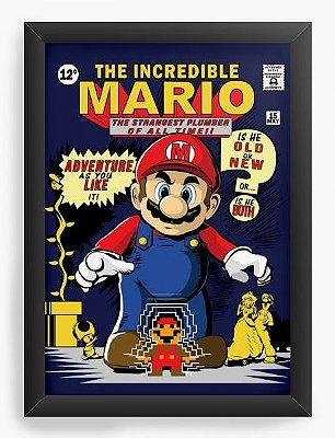 Quadro Decorativo Super Mario - The Incredible