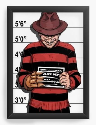 Quadro Decorativo Freddy Krueger
