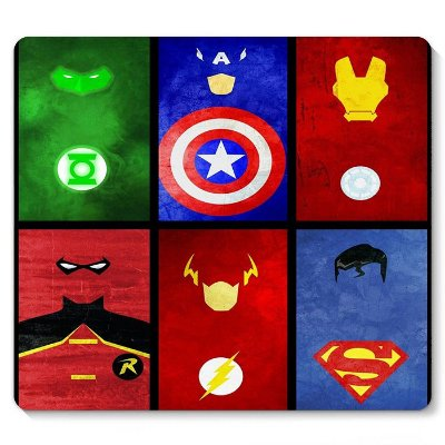 Mouse Pad Superman, Flash, Homem de Ferro 23x20