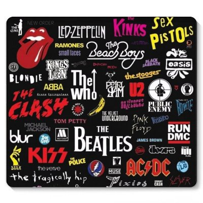 Mouse Pad The Beatles, Kiss 23x20