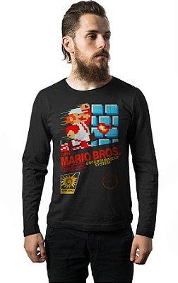 Camiseta Manga Longa Super Mario Bros