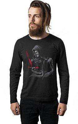 Camiseta Manga Longa Darth Vader - Star Wars