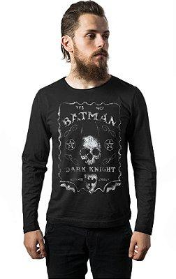 Camiseta Manga Longa Batman Skull