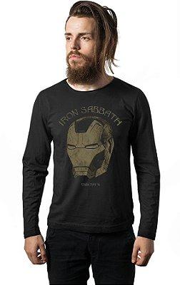 Camiseta Manga Longa Homem de Ferro