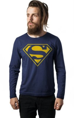 Camiseta Manga Longa Superman