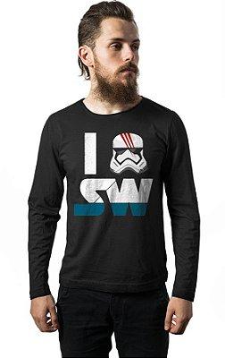 Camiseta Manga Longa I Stormtrooper Star Wars