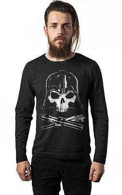 Camiseta Manga Longa Darth Vader Skull