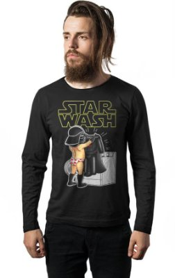 Camiseta Manga Longa Star Wars - Wash