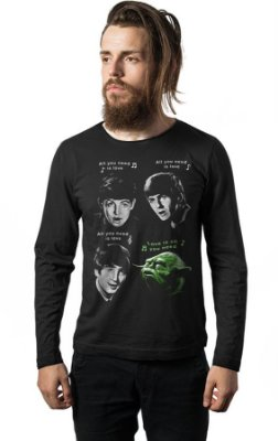 Camiseta Manga Longa The Beatles Yoda