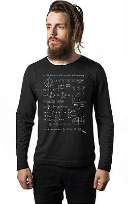 Camiseta Manga Longa Formula Gravitacional