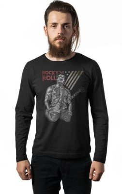 Camiseta Manga Longa Rock Roll