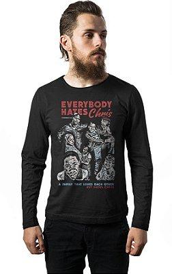 Camiseta Manga Longa Todo Mundo Odeia o Chris