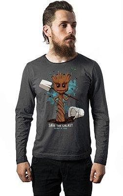 Camiseta Manga Longa Guardiões da Galáxia