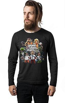 Camiseta Manga Longa GTA Mario
