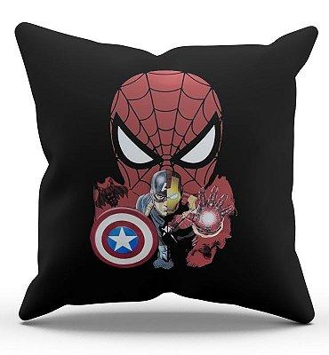 Almofada Homem Aranha e Capitão America 45x45