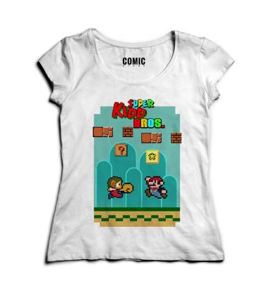 Camiseta Feminina Super Kidd Bros