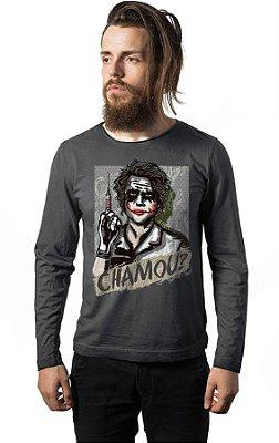 Camiseta Manga Coringa - Chamou ?