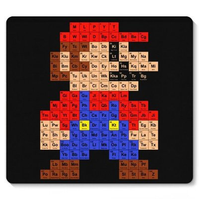 Mouse Pad Super Mario Periodica
