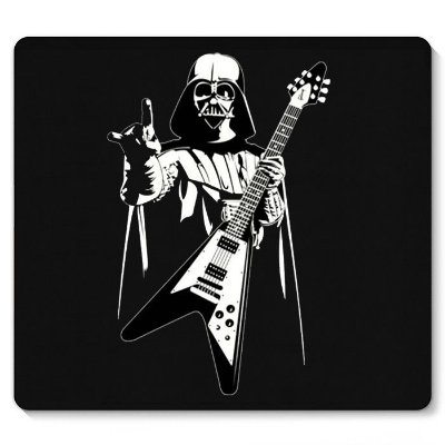 Mouse Pad Darth Vader Rock Roll