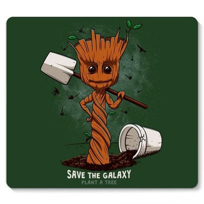 Mouse Pad Groot - Save the Galaxy