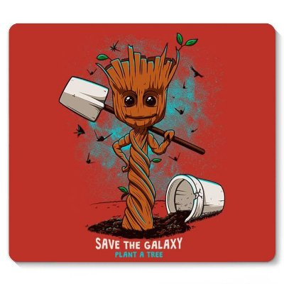 Mouse Pad Groot Galaxy