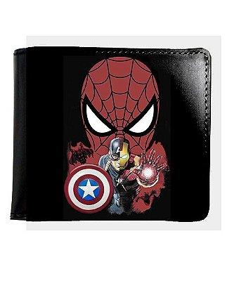 Carteira Homem Aranha e Capitão America