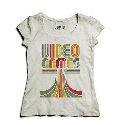 Camiseta Feminina Video Games