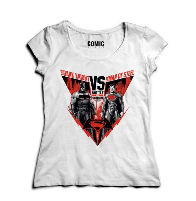 Camiseta Feminina Batman vs Super Man